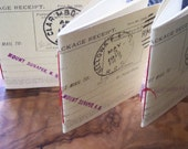 REGISTERED MAIL  - Set of Three Miniature JOTTER Notebooks Made from Recycled Registered Mail Cards