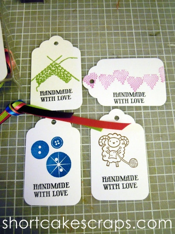 Knitting Gift Tags : Items similar to knitting gift tags set of four on etsy