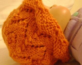 Sweet Scalloped Edge Newborn Hat