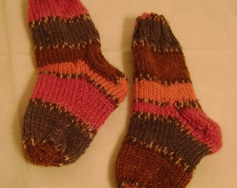 Chocolate and Berry Toddler Socks