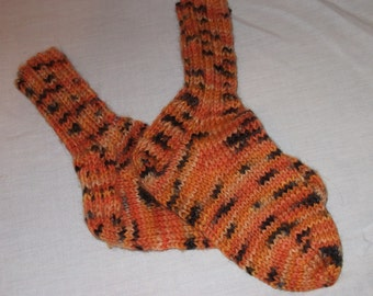 Tiger Toddler  Knitted Washable Wool Socks