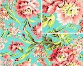 IN STOCK  Bliss Bouquet in Teal by Amy ButlerFabric 1/2 yard  Love Collection /  Bliss Bouquet in Teal -- Quilt Fabric