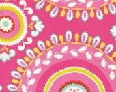 Jeevan in Pink / Dena Designs Kumari Garden / 1/2 yard Cotton Quilt  Fabric