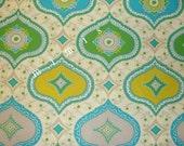 KUMARI GARDEN by Dena Designs /  Chandra in Blue / 1/2 Yard Cotton Quilting Fabric