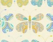 Sacha in Blue / Dena Designs Fabric / KUMARI GARDEN /  - 1 Yard Quilt Fabric