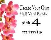Create Your Own -- 4 Half Yard Bundle Cotton Quilt Fabric