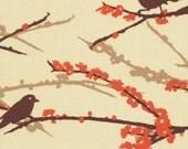 Sparrows in Bark / Joel Dewberry Fabric / AVIARY 1/2 Yard Apparel / Cotton Quilt Fabric 1 yard