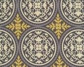 Joel Dewberry Fabric /  Scrollwork  in Granite /  AVIARY 2 / Cotton Quilt Fabric 1 yard
