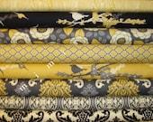 Yard Bundle / AVIARY 2 / Joel Dewberry Fabric / 8 Full Yards - Vintage Yellow  Cotton Quilt Fabric