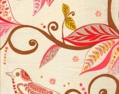 Valori WellsFabric /  Wrenly Collection /  Wren in Mandarin / 1 yd Cotton Quilt Fabric