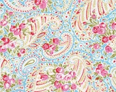 Paisley in Blue / Tanya Whelan Fabric / DELILAH Collection - 1/2 Yard Cotton Quilt Apparel Fabric