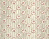 LAST Yard Rosey Stripe in Green / Barefoot Roses by Tanya Whelan / Quilt Apparel Fabric