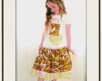 Ships Free! The Girly Skirt by Pink Fig   Size 6 M - 10 Years FREE SHIPPING with any other purchase