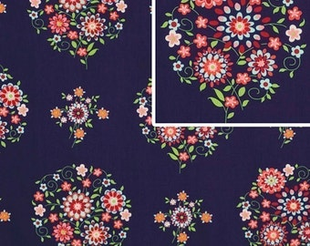 1/2 Yard Amy Butler, Memento in Midnight,,,,,,Quilt Apparel Fabric