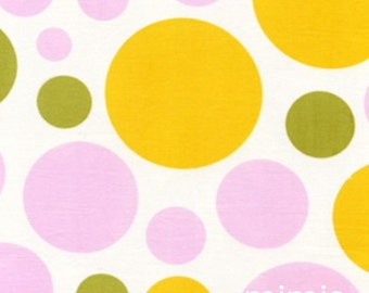 Nicey Jane by Heather Bailey, Dream Dot in Clementine, 1 Yard Quilt Apparel Fabric