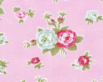 Tanya Whelan Fabric / BIJOU in PINK / Delilah Collection /  1 Yard Quilt Fabric