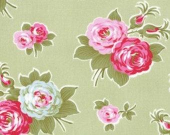 Tanya Whelan Fabric /  DELILAH Collection / Bijou in GREEN - 1 Yard Quilt Fabric