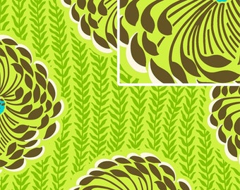 Amy Butler Soul Blossoms Delhi Blooms in Lime 1 Yard Quilt Fabric