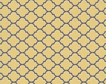 Joel Dewberry Fabric  / Lodge Lattice in Vintage Yellow / Aviary 2 / 1 yard   Cotton Quilt/Apparel Fabric