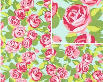 Tumble Roses in Pink /  Amy Butler / Love collection 1 yard Cotton Quilt Apparel Fabric