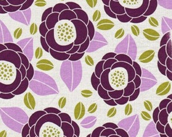 Joel Dewberry Fabric / Bloom in Lilac / Aviary 2 Collection Cotton Quilt Fabric 1 yard