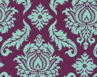 Damask  in Plum  by Joel Dewberry / AVIARY 2 /  Cotton Quilt Fabric 1 yard
