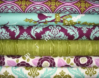 AVIARY 2 Collection /  Joel Dewberry Fabric / 6 Half Yard  Bundle  Cotton Quilt Fabric