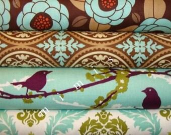 AVIARY 2  / Joel Dewberry Fabric / 4 Half Yard Bundle -  Cotton Quilt Fabric