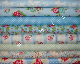 SALE ! Delilah Bundle Blues /  Tanya Whelan Fabric /  DELILAH Collection /  8 Half Yard Bundle / Cotton Quilt / Apparel Fabric