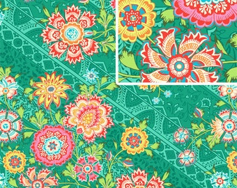 1/2 yard Heirloom in  Jade  / LARK Collection / Amy Butler Fabric  - Cotton  Quilt / Fashion Fabric