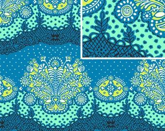 Amy Butler LARK Fabric / Nana Chic in  Cloud /  1 Yard Cotton Quilt / Fashion Fabric
