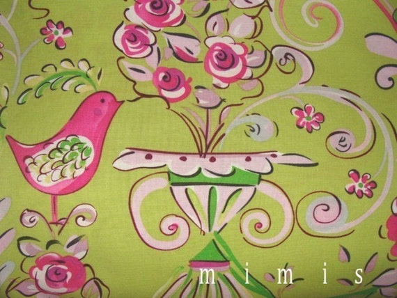 tea garden fabric by dena designs honey bush in fuchsia