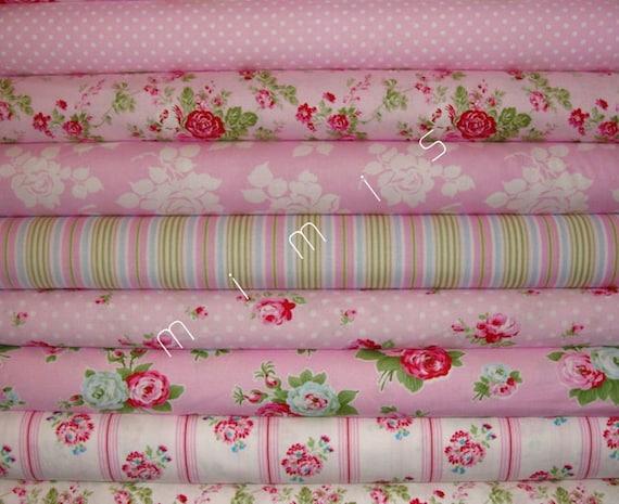 Yard Bundle DELILAH Fabric  by Tanya Whelan  / 8 Yard Bundle / Cotton  Quilt  Fabric Bundle -PINKS