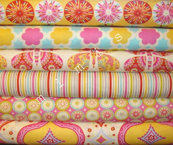 Dena designs kumari garden sashi in pink 1 yard quilt for Kumari garden fabric by dena designs