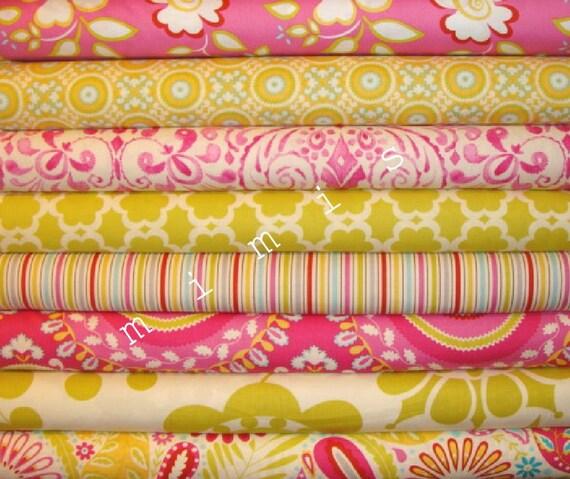 Dena designs fabric kumari garden kamal in moss 1 yard for Dena designs fabric kumari garden