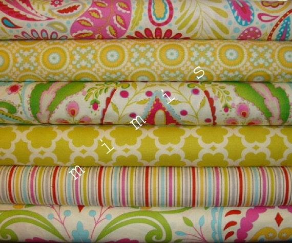 Dena designs fabric kumari garden sujata in pink 1 yard for Dena designs kumari garden