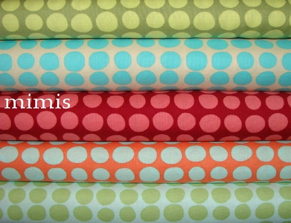 Amy Butler Fabric / Love Collection / SUNSPOTS /  5 Half Yards, Cotton Quilt Fabric