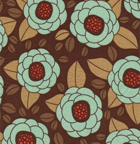 Joel Dewberry Fabric /  Bloom in Bark / Aviary 2 /  Cotton Quilt Fabric 1 yard