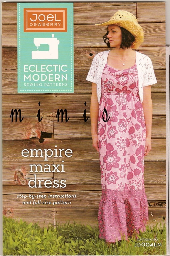 Empire Maxi Dress /  Sewing Pattern by Joel Dewberry /  SHIPS FREE with another purchase