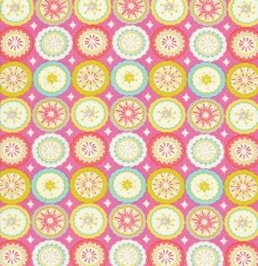 Dena designs fabric kumari garden lalit in pink 1 by mimis for Kumari garden fabric by dena designs