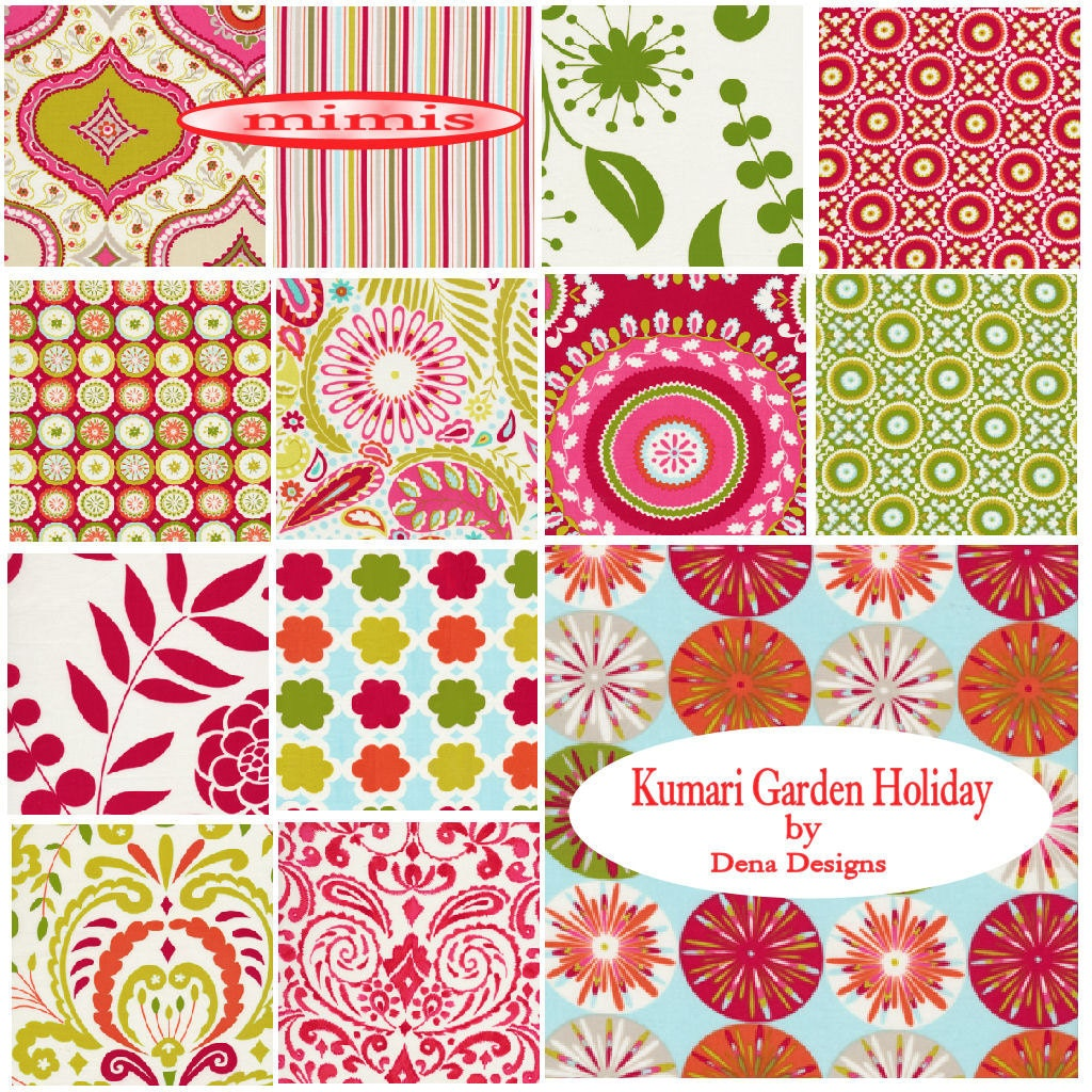 Kumari garden holiday by dena designs fat quarter pack for Kumari garden fabric by dena designs