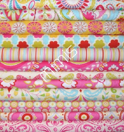 Dena designs fabric 12 half yard bundle kumari garden for Kumari garden fabric by dena designs