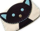 Large Black Cat Snap Wallet