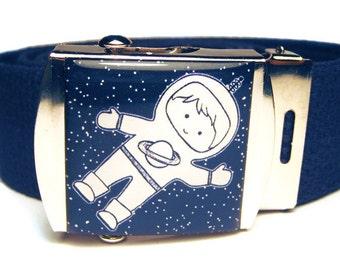 Astronaut Boy Navy Canvas Belt