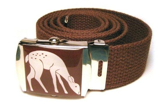 Graphic Deer Canvas Belt