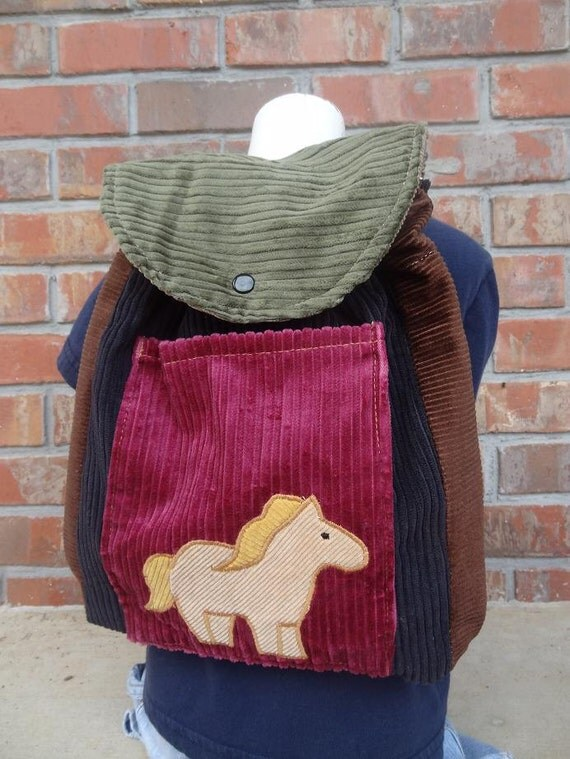 Toddler Sized Backpack -- HORSEY HORSE
