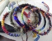 Bracelet, fiber bracelet, bangle, fiber jewelry - Autumn SET