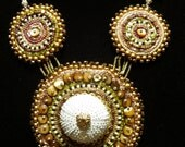 Urchin Bead Embroidered Necklace