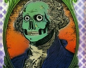 George Washington Zombie art print
