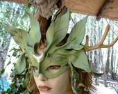 Alder tree fae spirit essence....leather mask by faerywhere